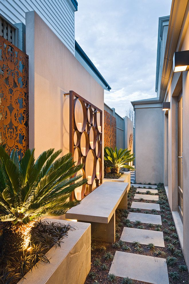 Surprising Outdoor Metal Wall Art Decorating Ideas Contemporary Landscape Side Yard Landscaping Modern Garden