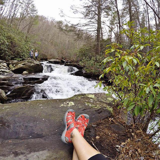 """Use #KEEN to share your favorite KEEN photos!  @bguess86 """"Love getting to wear sandals in December!"""" #BaldRiverGorge #keen"""
