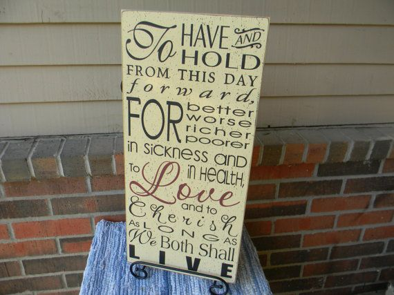 Wedding vows To have and to hold LARGE vintage by