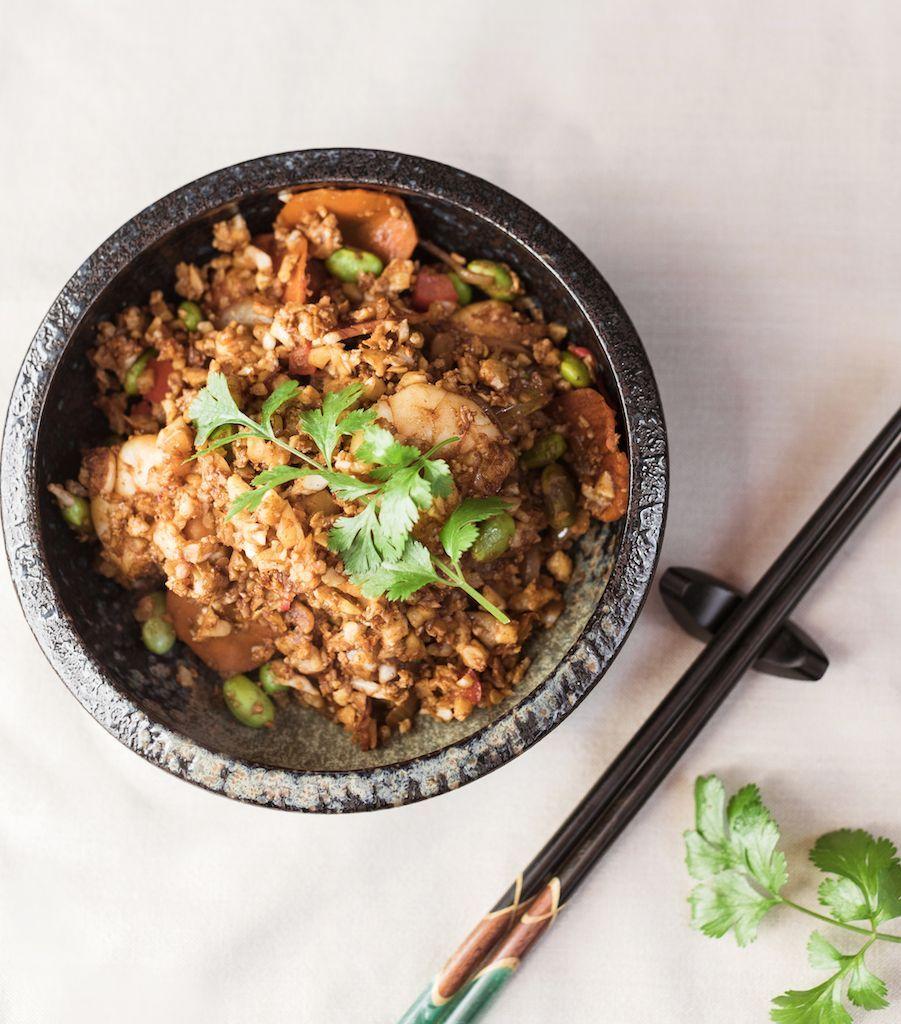 Wayne's Cauliflower Fried Rice | Nourish Magazine #cauliflowerfriedrice Wayne's Cauliflower fried rice #cauliflowerfriedrice