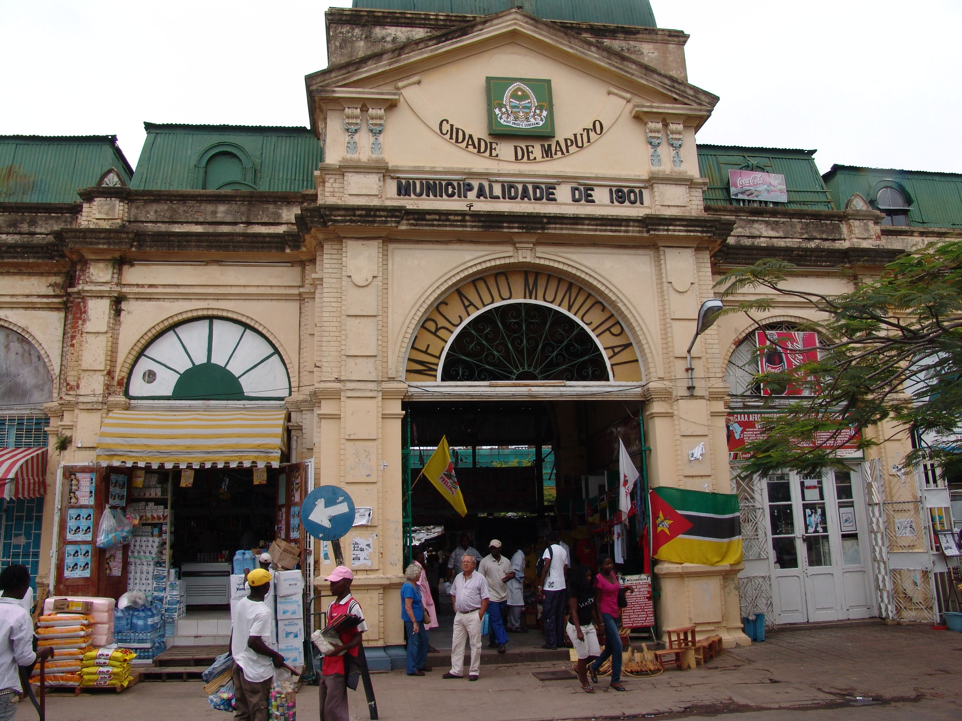 Malanga Market In Maputo From The Outside Mocambique Paises Da Africa Cidade