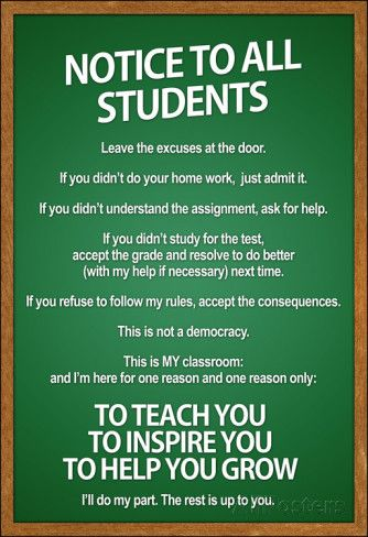 Notice to all Students Classroom Rules Poster | Classroom rules ...