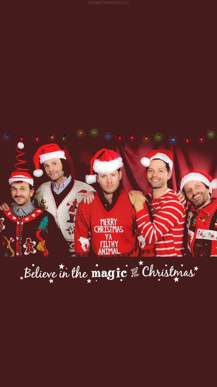 Supernatural Wallpaper/Lockscreen Christmas