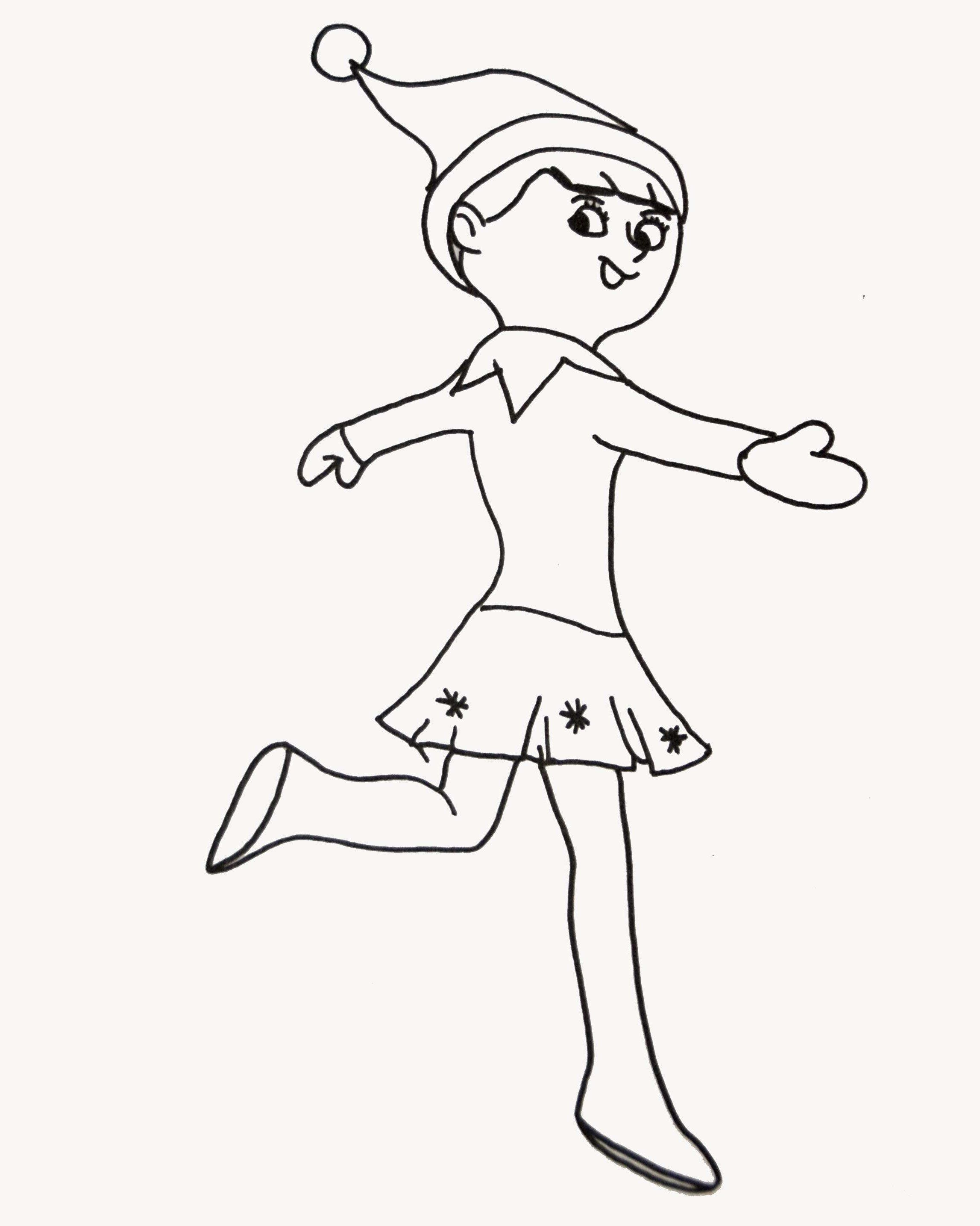 Elf On The Shelf Coloring Pages Elegant Coloring Pages Elf