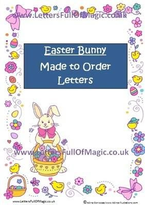 Easter Bunny  Made To Order Letters  By WwwLettersfullofmagic