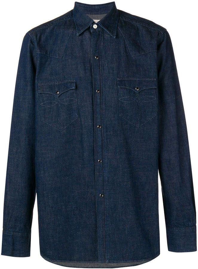 666bc6dc37 Bagutta Chest Pocket Denim Shirt