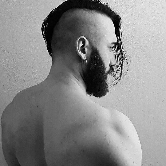 Gothic, Beard, mohawk, man