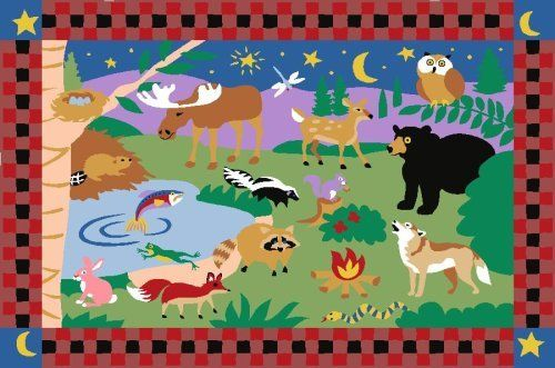 """LA Rug Camp Fire Friends Rug 39""""x58"""" by LA Rug. $45.05. Easy To Clean. 100% Nylon. Fire Retardant. Good Quality. 39""""x58"""" Made out of 100% Nylon, with foam backing"""