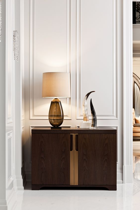 Detail Shot Of The Holly Hunt Cabinet In The Grand Room Vignette Designed  By Elizabeth Metcalfe
