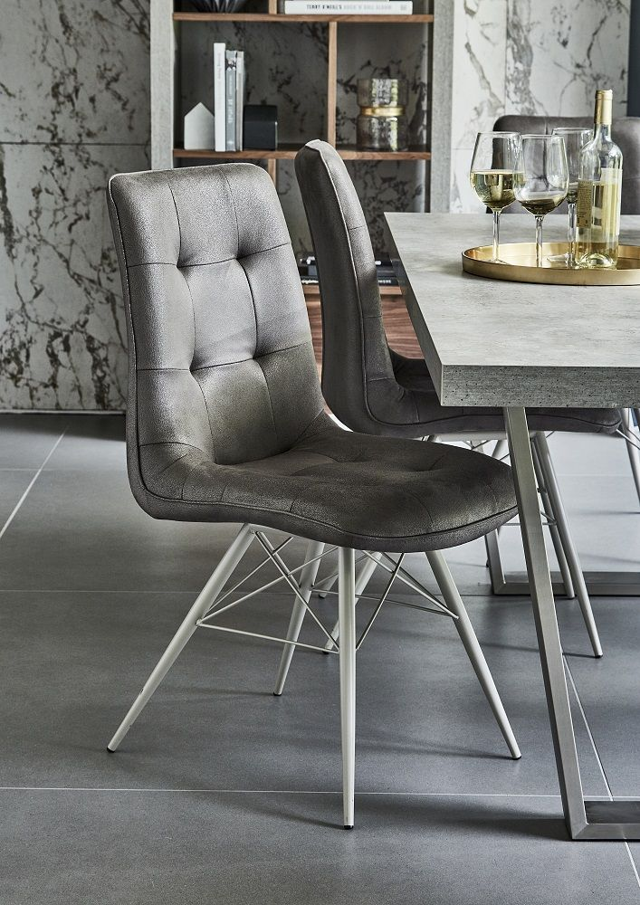 Hix Upholstered Dining Chair Grey Dining Chairs Dining Room