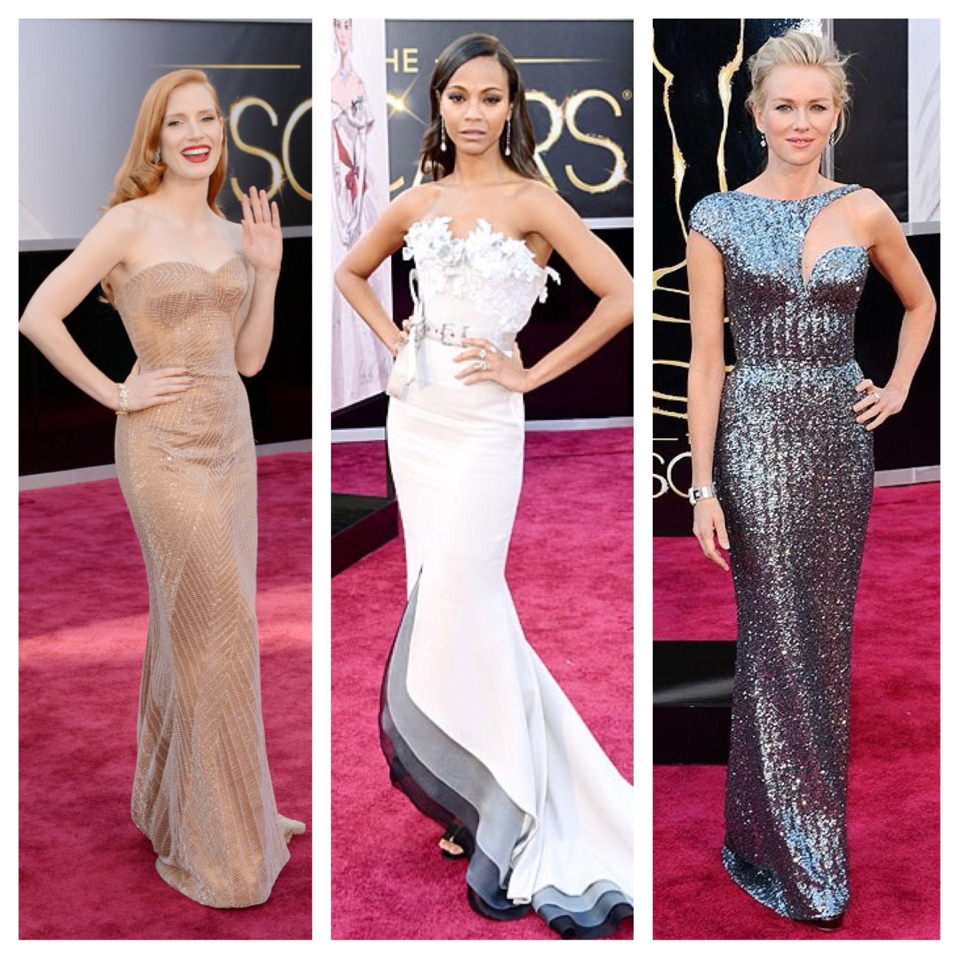 My favorite #Eredcarpet looks: Jessica Chastain, Zoe Saldana, and ...