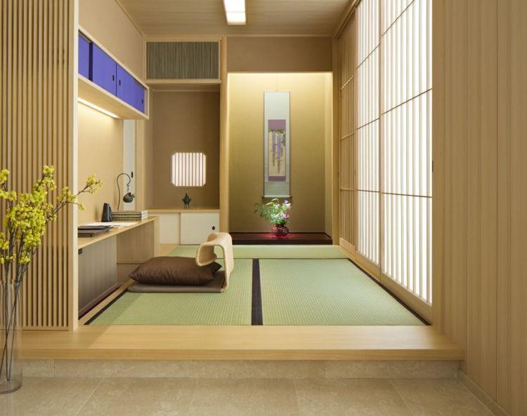 Der Adel Japans nutzte die dekorativen Matten anfangs nippon - einrichtung im modernen asiatischen stil ideen
