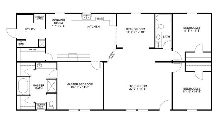 Yep, it's a doublewide :) ... Clayton Homes | If I had the ... Clayton Mobile Homes Floor Plans Bedroom on clayton i house floor plan, clayton homes ali floor plan, clayton mobile home deck plan, clayton homes in al, clayton homes floor plans 4 bedrooms,