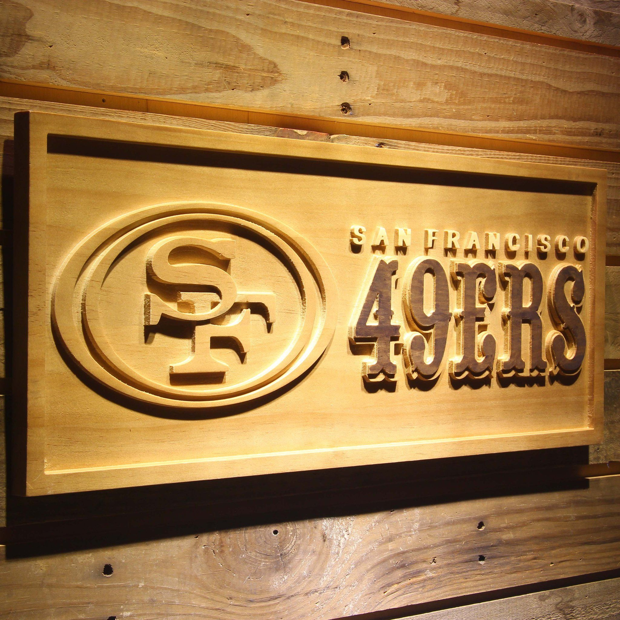 San Francisco 49ers 3D Wooden Sign - WoodySigns Co. | 49ers ...