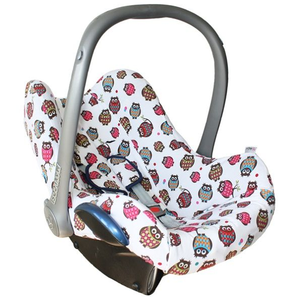 cover for maxi cosi cabriofix maxi cosi pebble en maxi cosi citi sps white with colored owls. Black Bedroom Furniture Sets. Home Design Ideas