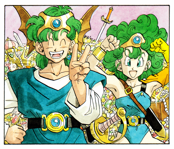 Dragon Quest 4 Hero And Heroine Art By Akira Toriyama Dragonquest In 2020 Dragon Quest Dragon Warrior Akira
