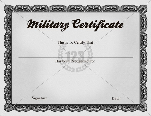 Quality Military Certificate Templates 123certificate Templates
