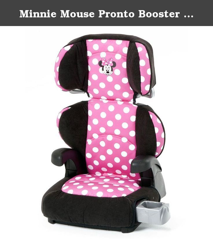 Minnie Mouse Pronto Booster Seat Let Your Little Fashionista Ride In Style With Her Favorite Disney Friend The Belt Positioning
