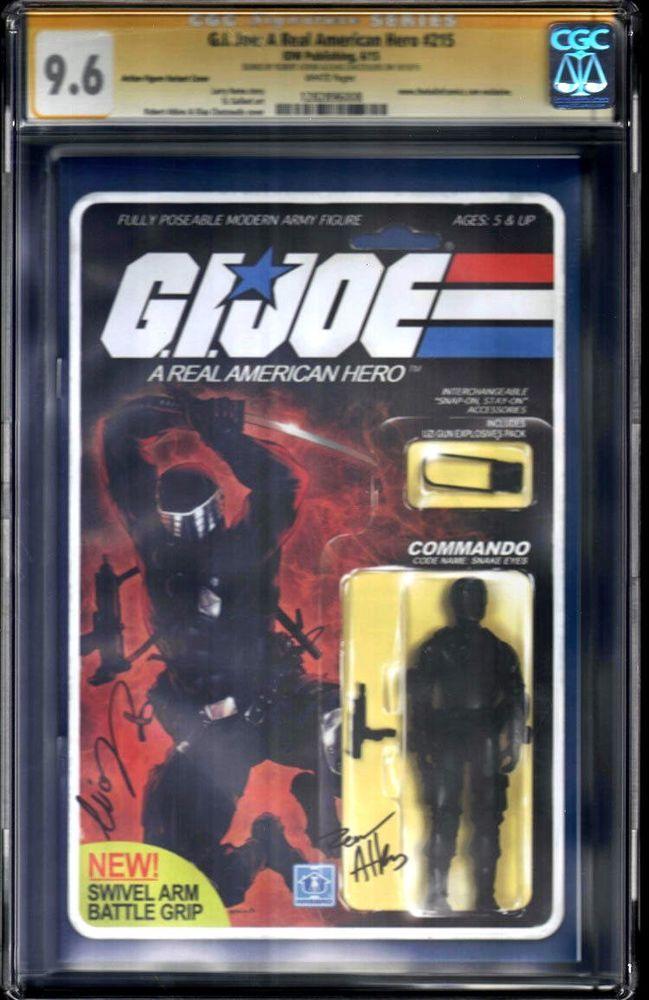 CGC 9.6 WP Gi Joe Real American Hero #216 Snake Eyes  Action Figure SS