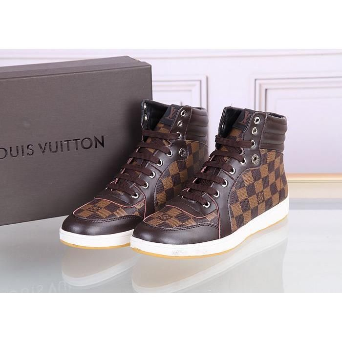 38b15b994718 Louis Vuitton LV high-top Leather shoes for men