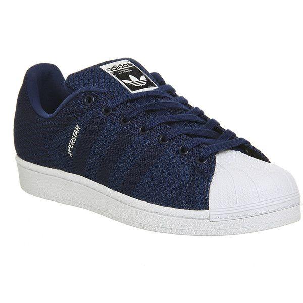Adidas Sneakers Superstar 2 Dark Blue White Weave Pack