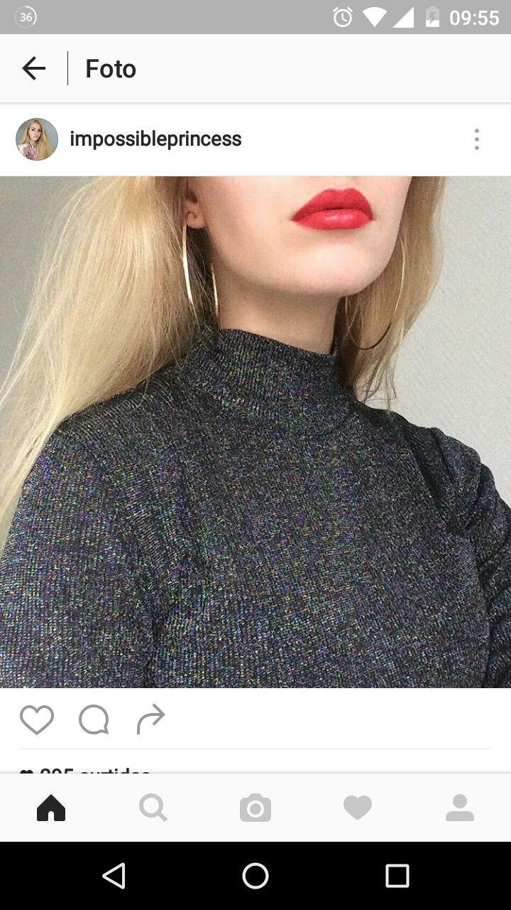 Batom vermelho. Make up. Instagram