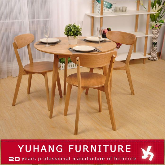 3 Or 4 Seater Round Wooden Dining Table Designs For Sale Photo