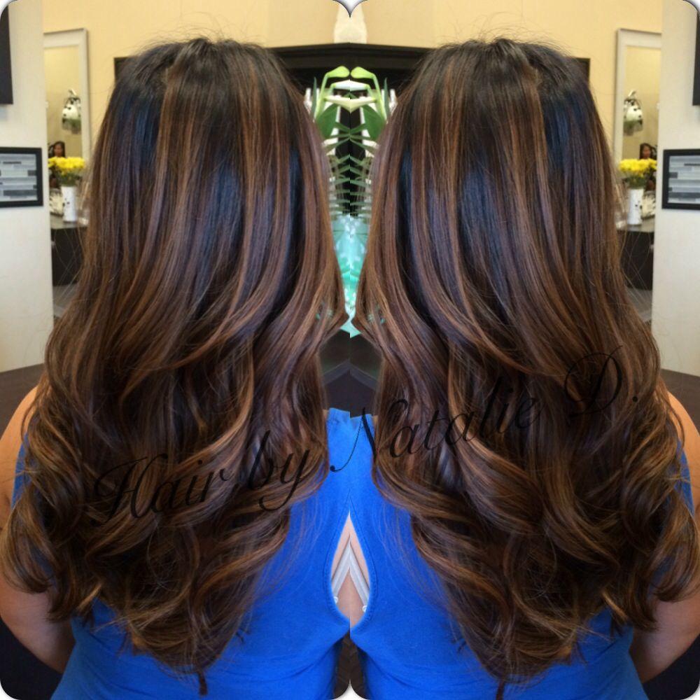 Hair by Natalie D. #balayage #balaygehighlights #hairpainting