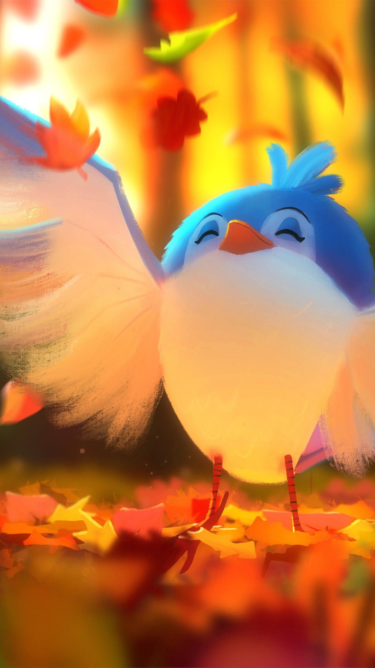 Misc Cute bird Digital art 4K wallpapers hd 4k