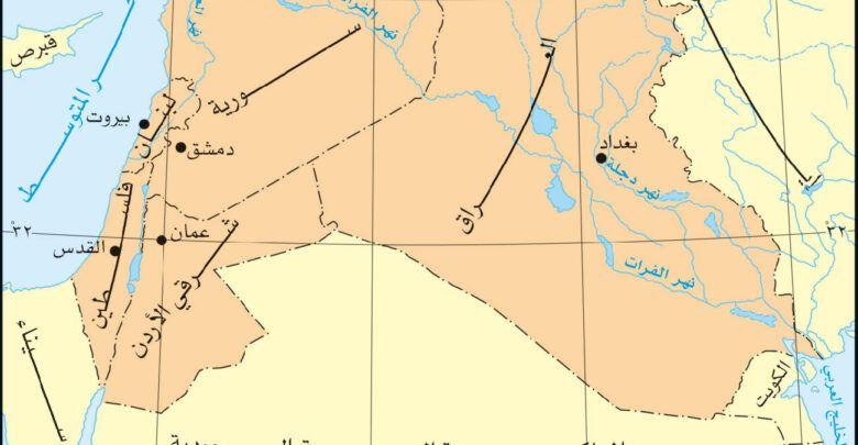 حضارة بلاد الشام القديمة موقعها وأهميتها Diagram Chart Map