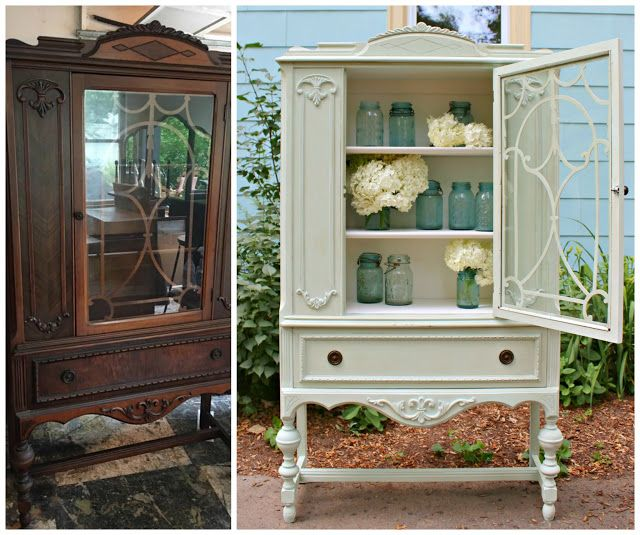Heir And Space A Jacobean China Cabinet Furniture Makeover