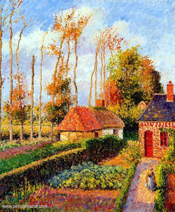Neo Impressionism Artists: Camille Pissarro Varengeville Sunset. Was A Danish-French