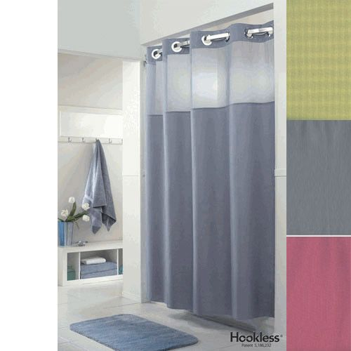 Hookless Shower Curtain-love that you can see through the panel-no ...