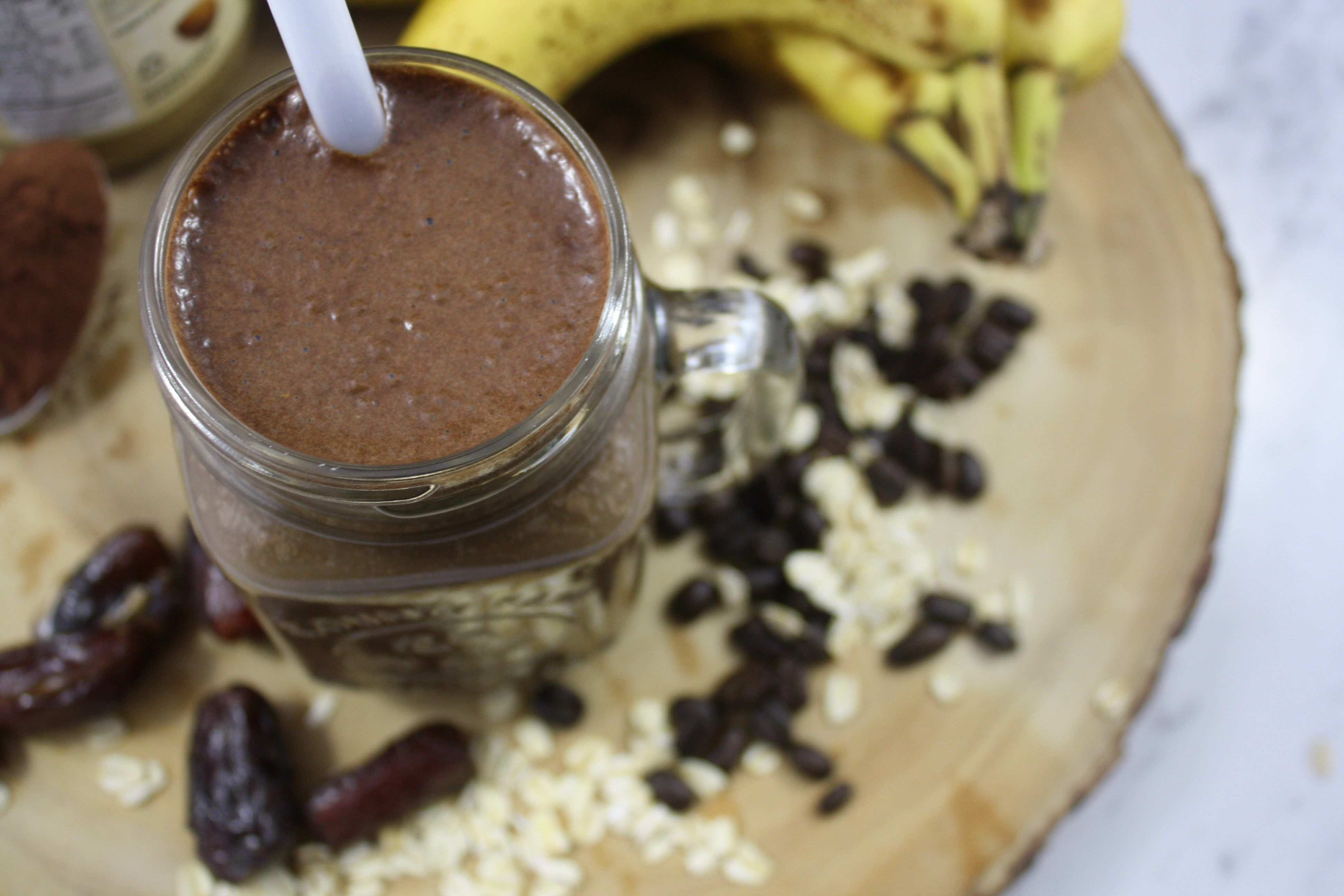 Coffee crunch preworkout smoothie with images food