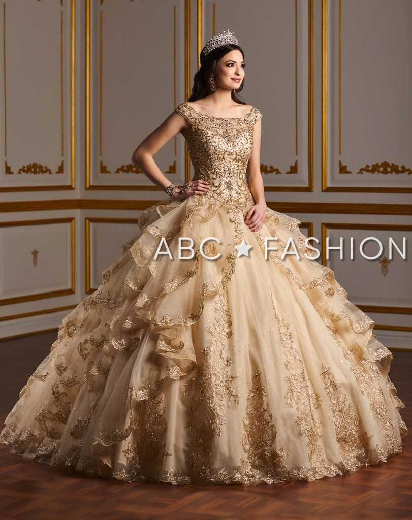 Ruffled Off the Shoulder Quinceanera Dress by House of Wu 26929 #gorgeousgowns