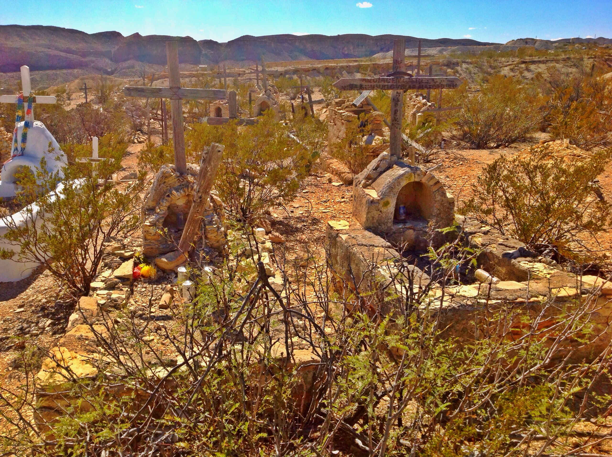 Terlingua Ghost Town Graves.
