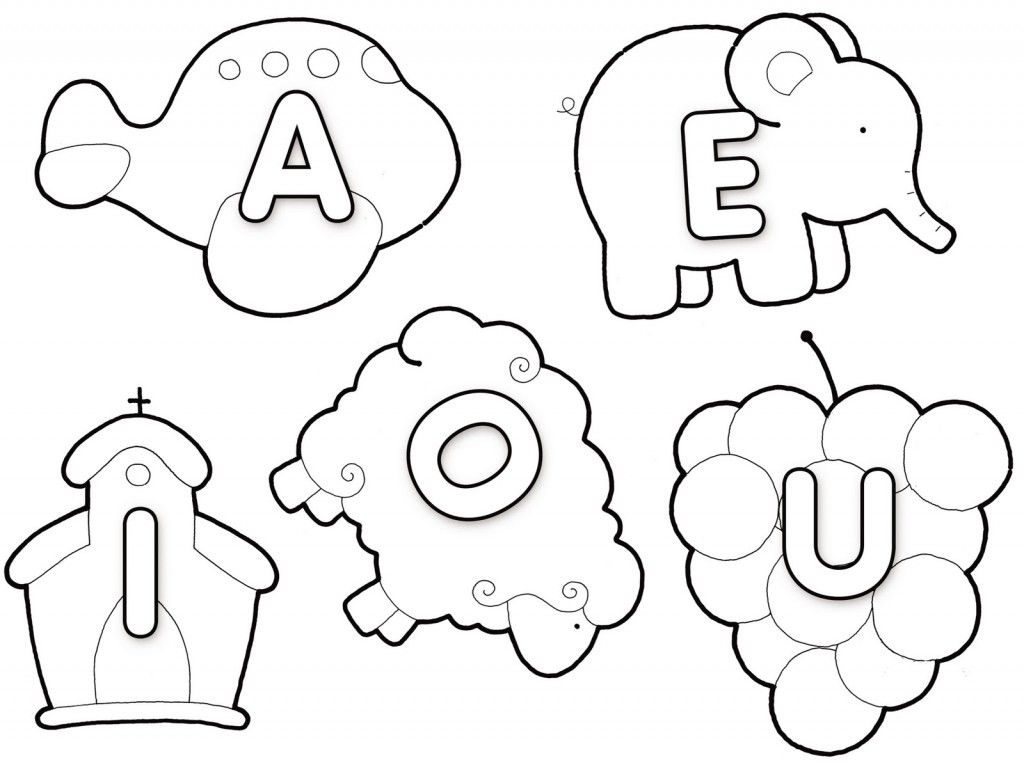 Bloguinfo: Atividades com vogais para imprimir