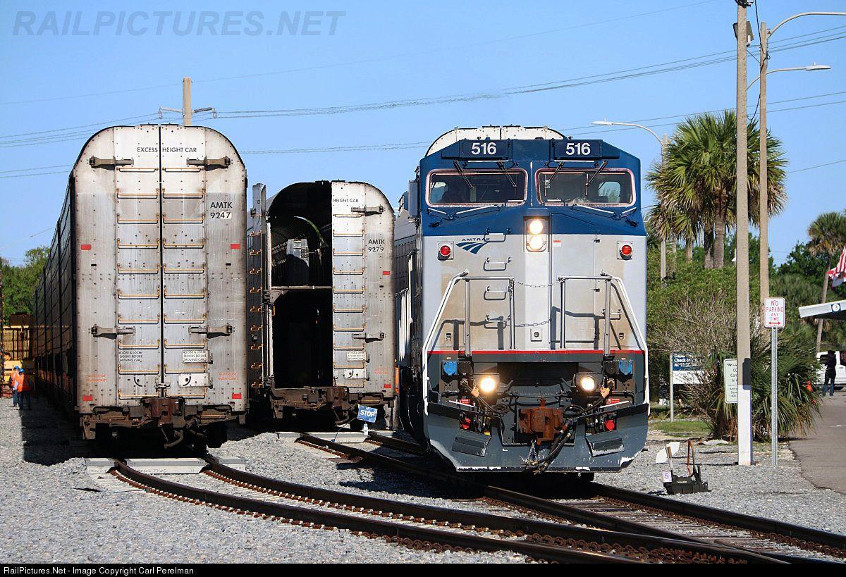 Amtrak 516 Amtrak GE B328WH at Sanford, Florida by Carl