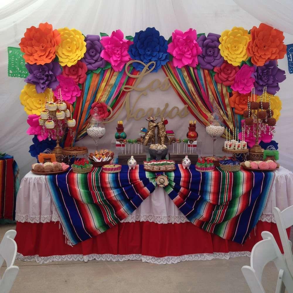 Fiesta mexican bridal wedding shower party ideas - Ideas decoracion fiestas ...