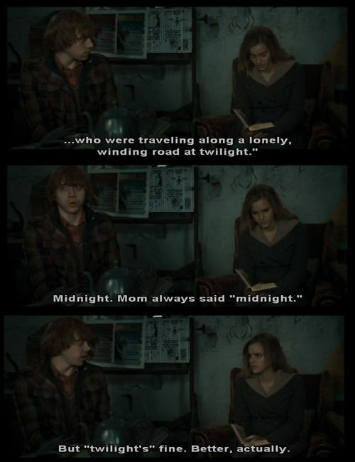 I Laughed So Hard When This Scene Happened In The Deathly Hallows Part 1 Harry Potter Love Harry Potter World Harry Potter Hermione
