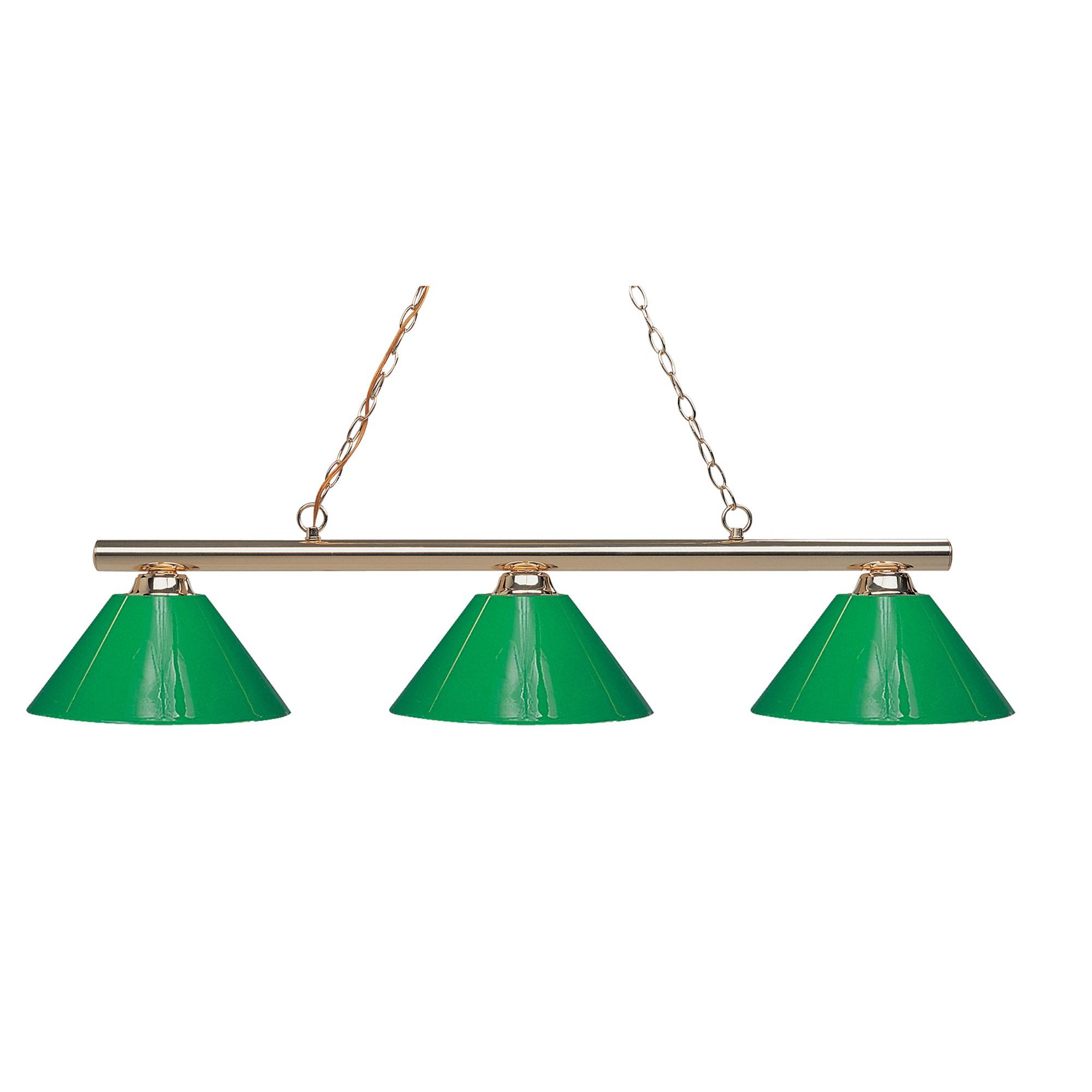 Billiard ceiling lights with green glass set of zlite