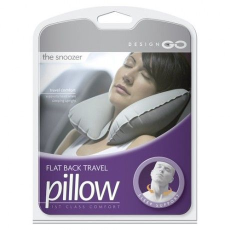 This travel neck pillow has a innovative flat-back design that was computer generated to ensure maximum travel comfort. A carry case is included for easy packing  www.capeunionmart.co.za
