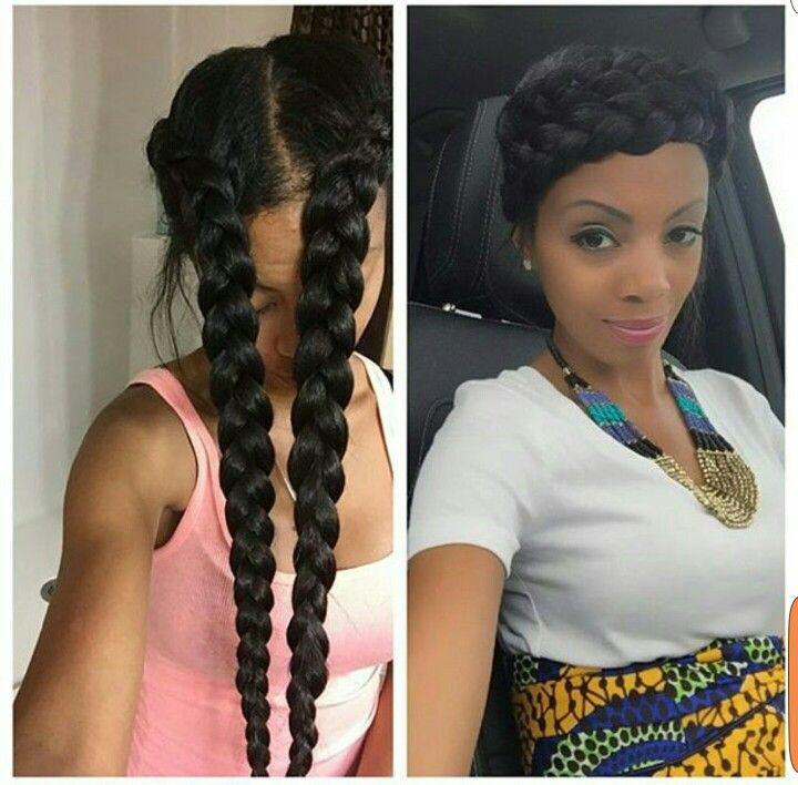 2 Braid Crown Ig Miellorganics Hair Inspiration Hair Styles Hair Y Avocado Hair