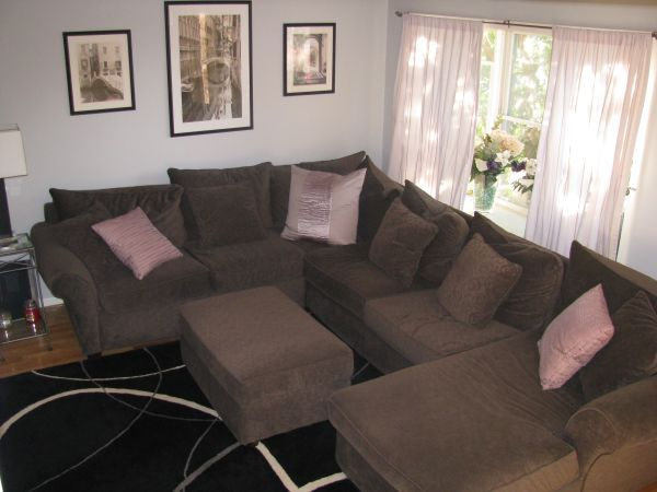 Jordan's Furniture Sectional with Ottoman 600
