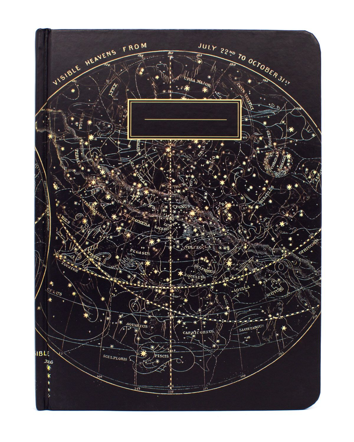 Astronomy Vintage Star Chart Journal  Recycled Paper