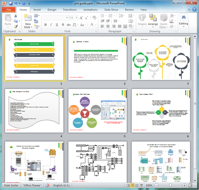 P&ID Guide | Powerpoint examples, Powerpoint format, Powerpoint