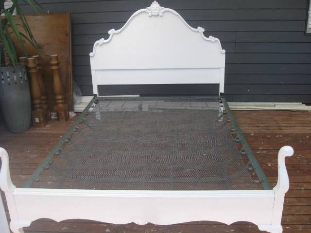 French Provential Queen Bed White Timber Carved Queen Anne Double Bed Vintage French Provincial Timber Beds Beautiful Bedrooms French Provincial Bed