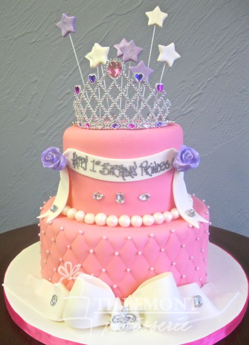 Awesome Princess With Tiara Birthday Cake With Images Girly Birthday Funny Birthday Cards Online Inifofree Goldxyz