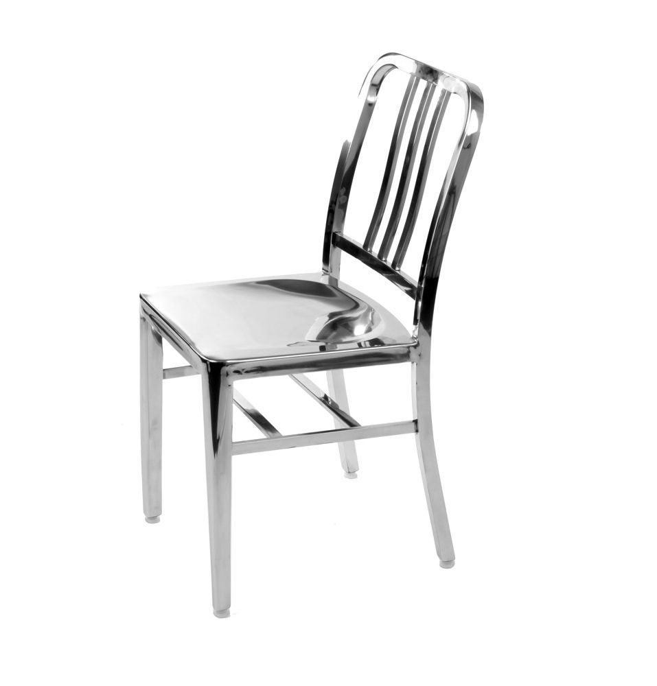 The Matt Blatt Replica Emeco US Navy Chair   Polished Stainless Steel    Matt Blatt Pssst