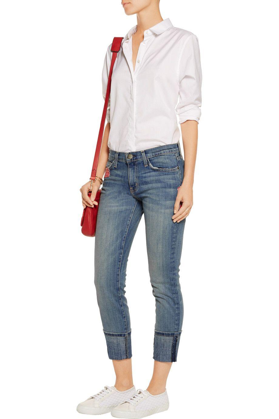 Current/ElliottThe Beatnik patchwork mid-rise skinny jeansfront